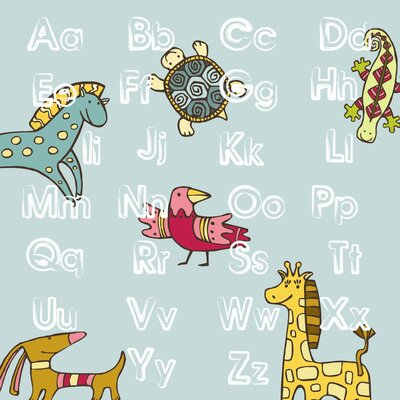 Secretly Designed ABC Animal Wall Art Print