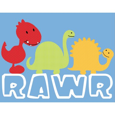 Secretly Designed Rawr Wall  Art Print