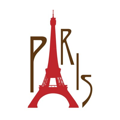 Secretly Designed PARIS Paper Print