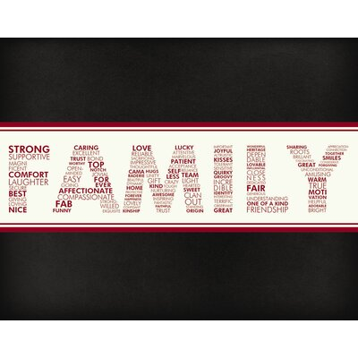 Words For A Father Wall Art Print