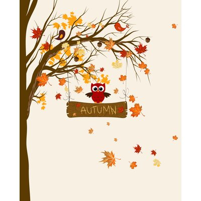 Secretly Designed Autumn Leaves Paper Print