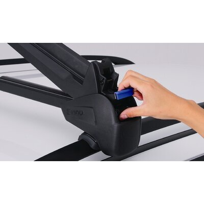 Inno Car Racks Dual Angle ski/snow board rack for raised side rails