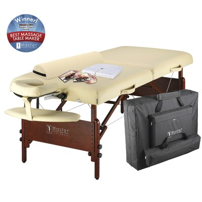 "Master Massage 30"" Del Ray Pro Package Massage Table in Cream"