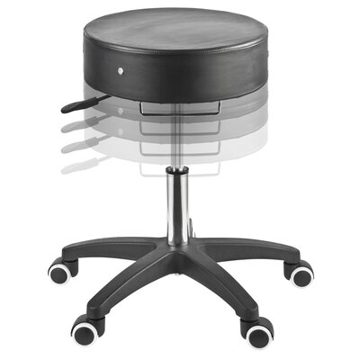 Master Massage Rolling Stool in Black