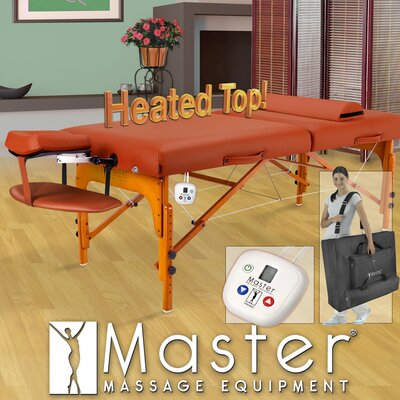 "Master Massage 31"" Santana Therma Top LX Massage Table in Mountain Red"