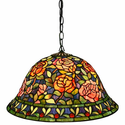 Southern Belle Rose 2 Light Hanging Pendant