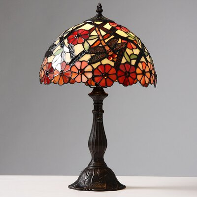 Warehouse of Tiffany Daisy and Dragonfly Petite Table Lamp