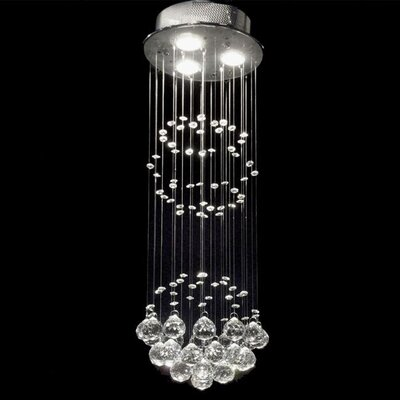 Shower 3 Light Crystal Chandelier