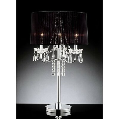 Warehouse of Tiffany Victoria 3 Light Crystal Table Lamp