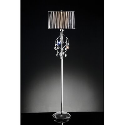Warehouse of Tiffany 1 Light Crystal Floor Lamp