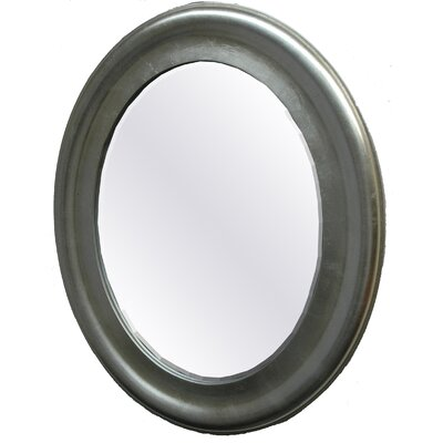Silverton Oval Mirror in Speckled Antique Silver with a Gold/Bronze Tint