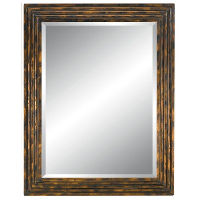 Tortoiseshell Delight Wall Mirror in Dark Gold