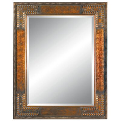 Imagination Mirrors Tailor's Mark Wall Mirror in Cherry Gold