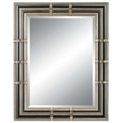 Parallel Reflections Wall Mirror in Silver Black