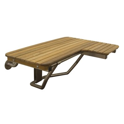 Wall Mount Teak Transfer Bench