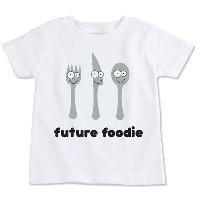 Spunky Stork Future Foodie Organic Short Sleeve in White