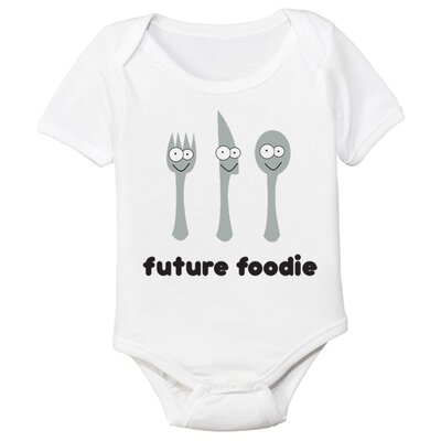 Spunky Stork Future Foodie Organic Short Sleeve in White