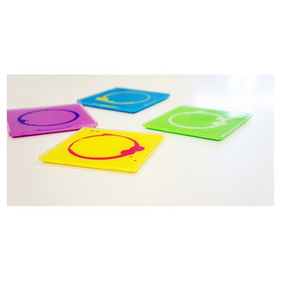 Molla Space, Inc. Stained Coasters