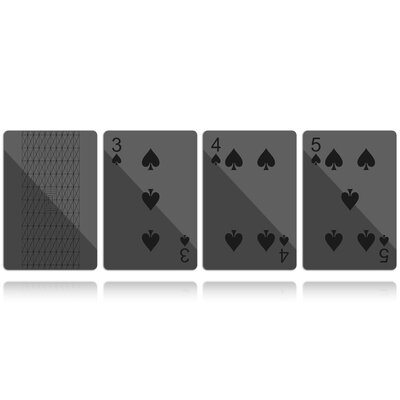 Molla Space, Inc. MollaSpace Deck of Cards in Black