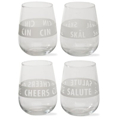 TAG Viva Glassware Cheers Tumbler (Set of 4)