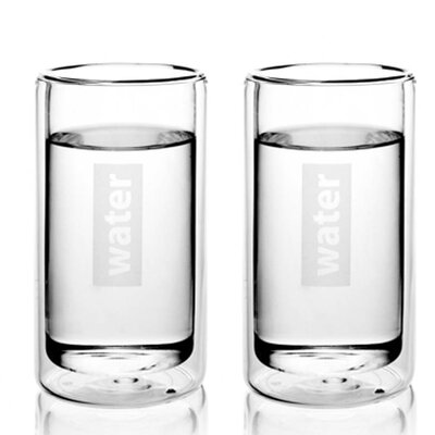 Viva Glassware Classic Double Wall Water Glass (Set of 2)