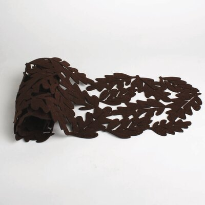 Owl Fall Leaf Felt Table Runner