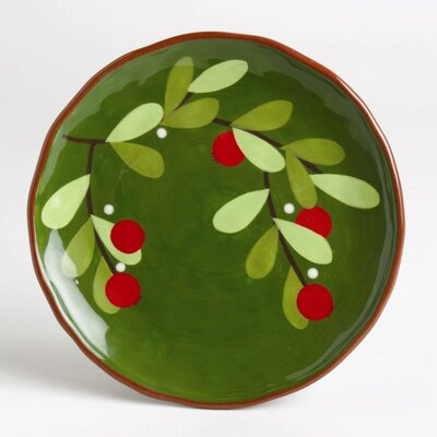 TAG Jardin Christmas Cranberries Appetizer Plate (Set of 4)
