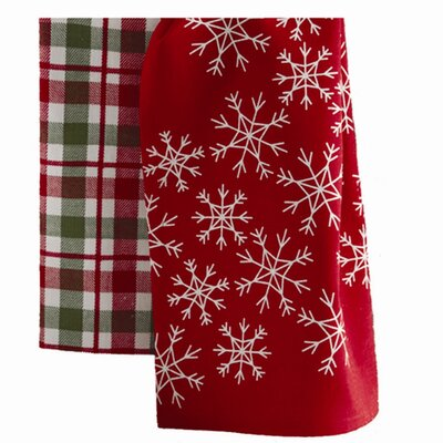TAG Chalet Snowflake Plaid Dishtowel (Set of 2)