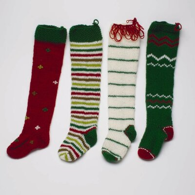 TAG Twas The Night Knitted Holiday Stocking (Set of 4)