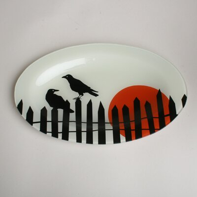 TAG Spooky Party Oval Glass Platter