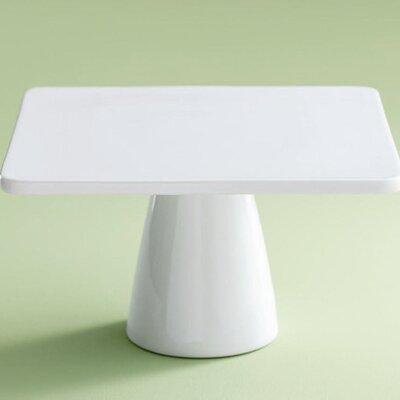 TAG Whiteware Square Pedestal Cake Plate