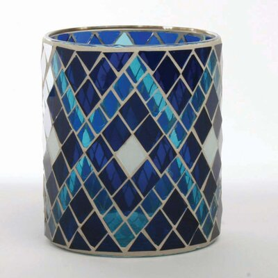 TAG Indigo Glass Votive Holder