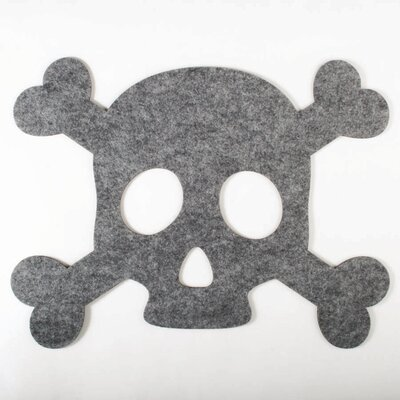 TAG Halloween Skull and Bones Felt Placemat (Set of 4)