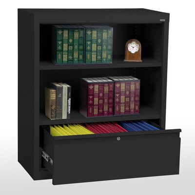 "Sandusky Cabinets 42"" Bookcase with File Drawer"