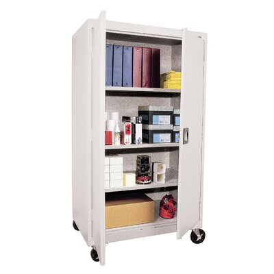 Sandusky Cabinets Transport Three Shelf Large Mobile Storage - 66&quot; x 36&quot; x 24&quot;