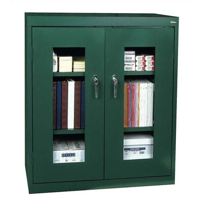 Sandusky Cabinets Clear View Counter Height Cabinet