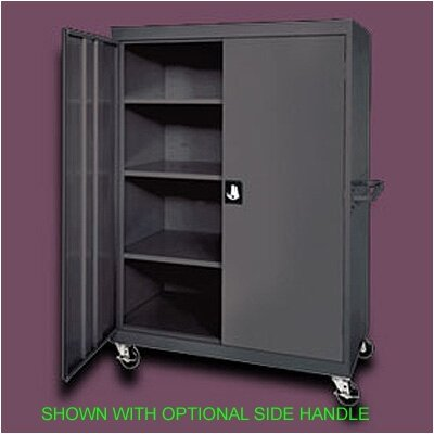 "Sandusky Cabinets Transport Four Shelf Extra Large Mobile Storage - 65"" x 46"" x 24"""