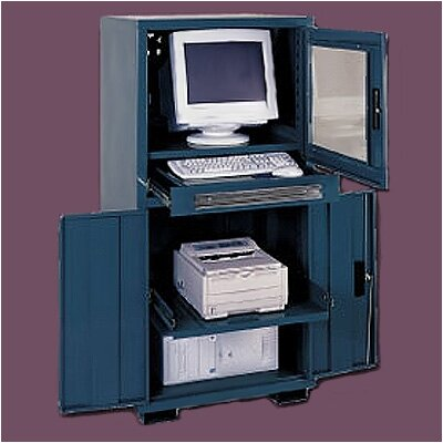 Sandusky Cabinets Computer Enclosure with Fan and Electric Outlet