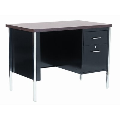 Sandusky Cabinets 40&quot; W Single Pedestal Executive Desk with File Drawer