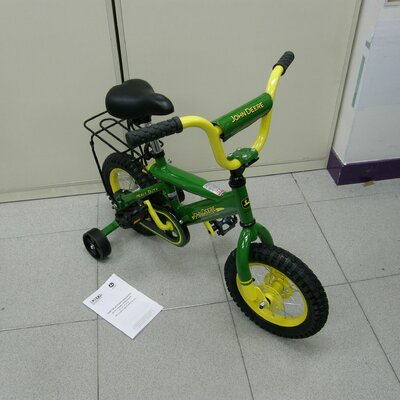 "John Deere 12"" Heavy-Duty Bike with Training Wheels"