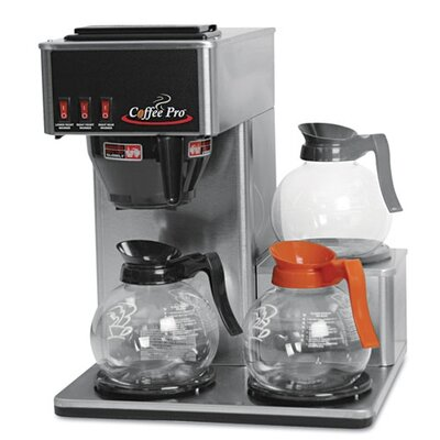 Original Gourmet Food Co. Coffee Pro Three-Burner Low Profile Institutional Coffee Maker