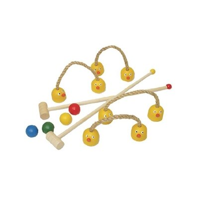 Sassafras Kid's Duck Combo Croquet Game Set
