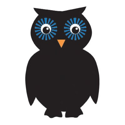 Sassafras Chalk It Up Owl Blackboard