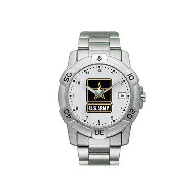 Chrome Military U.S. Army Watch with Date