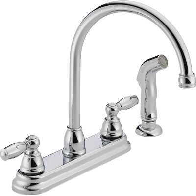 peerless faucets two handle centerset kitchen faucet with kingston brass ks879 two handle kitchen faucet atg stores