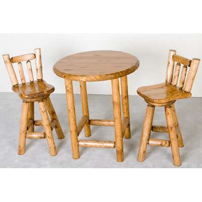 Northwoods Billiards Log Pub Dining Set
