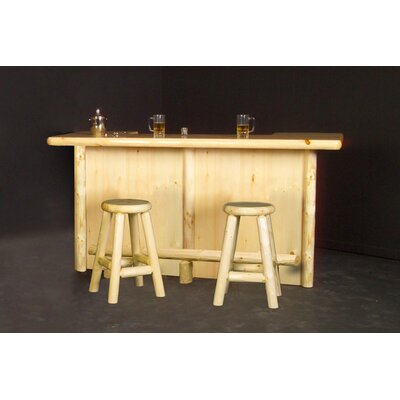 Northwoods Billiards Home Bar with Optional Stools