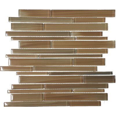 Contempo Jasper Strips Random Sized Mosaic Tile in Multi
