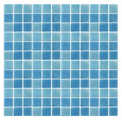 "Epoch Architectural Surfaces Spongez S-Light Blue 12"" x 12"" Recycled Glass Mosaic in Blue"