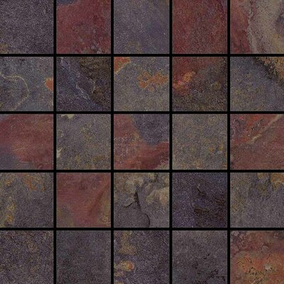 "Epoch Architectural Surfaces 12"" x 12"" Glazed Porcelain Mosaic in Multi"